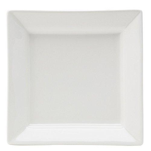 Utopia Anton Noir en porcelaine fine Z03013–000000-b01006 Matrix Deep Assiette carrée, 17,8 cm (lot de 6)
