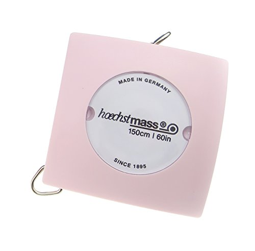 Hoogste maat balzer pillow meetlint, behuizing kunststof/band PVC gecoat polyesterweefsel, roze, 4,2 x 2,1 x 4,2 cm