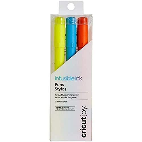 Cricut 2007999, geel/blauwe bessen/mandarijn Joy Infusible inkt pennen 0,4 (3 stuks), voor
