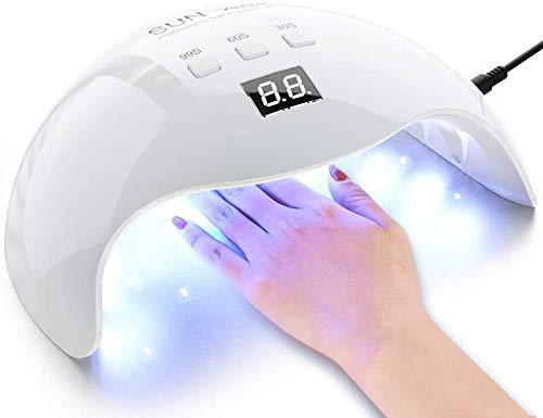 48W LED UV lampe für Gelnägel, Nagel Lampe Nageltrockner 30s 60s 99s Timer, Infrarot Sensor, LCD Display für Maniküre/Pediküre, Haus und Salon