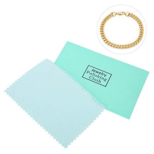 Lot de 10 chiffons de nettoyage pour bijoux en or, platine et argent sterling