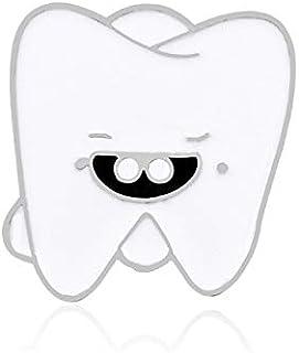 Dibujos animados Sonrisa Dientes Broche Órgano médico Enfermera Dentista Alfileres de esmalte Broche Abrigo Camisas Pin de...