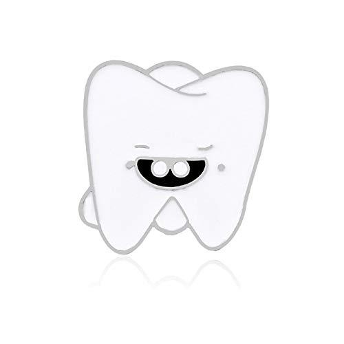 Cartoon Lächeln Zähne Brosche Medizinische Orgel Krankenschwester Zahnarzt Emaille Pins Brosche Mantel Hemden Anstecknadel Niedlichen Abzeichen Schmuck Für Kinder Geschenk-Splitter, China