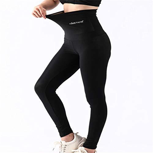 WENLIANG Damen Sauna Sweat Shorts Mit Hoher Taille - Gewichtsverlust,Damen Neopren Shapewear Shorts Mit Hoher Taille Hot Thermo Workout Thight Leggings L Nine-Point Pants