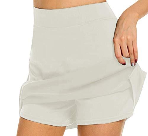 ZYLL Femme Active Skort, Courir Jupe Golf Cuissard avec Jupes pour Running Golf Tennis Workout Utiliser Casual,6,S