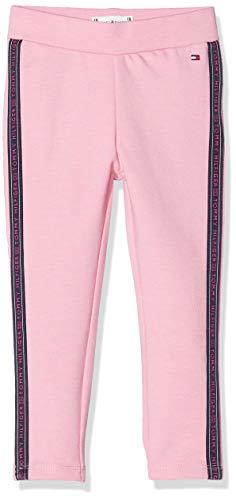 Tommy Hilfiger Mädchen Curved Hem Legging, Pink (Pink Tf4), One Size (Herstellergröße: 74)