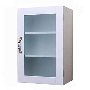 Mueble de Pared para baño Mueble de Almacenamiento Multicapa Mueble de Pared Mueble suspendido Mueble de baño Mueble Impermeable Mueble de Vidrio (Color : Blanco, Size : 53 * 35 * 20.7cm)
