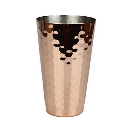 Cubeta de hielo Hammer Cobre Copa Mule Copa Coctel creativo Copa de acero inoxidable Copa de vino de metal Copa de rosa de oro Taza cónica 350 ml