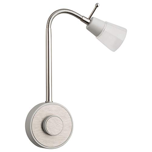 SEBSON® Lámpara enchufe LED regulable, Luz enchufe nocturna 2W, Luz Lectura Pared flexible