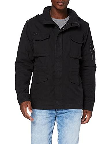 Superdry Classic Rookie Jacket Chaqueta, Negro Lavado, L para Hombre