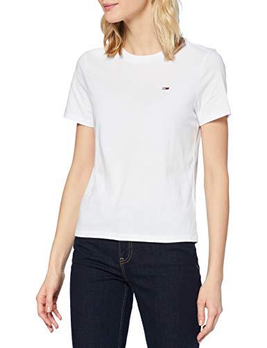 Tommy Hilfiger Damen TJW Regular Jersey C Neck T-Shirt, weiß, M
