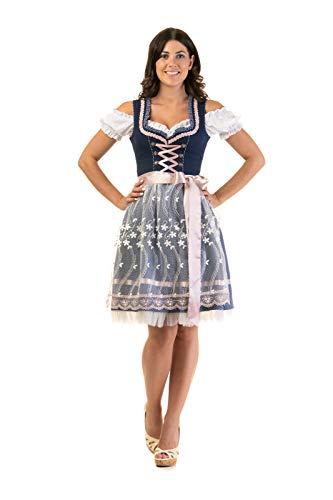 Trachtl.de Dirndl Trachtenkleid Damen Steffi 3:TLG Set Bluse und Schürze 40