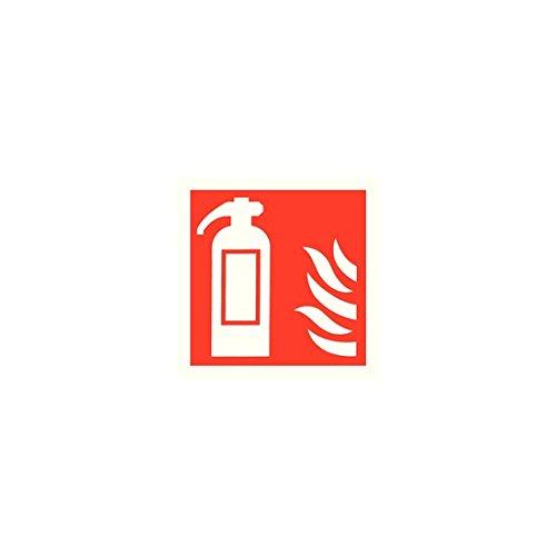 Veiligheidsbord Brandblusser Symbool 100x100mm Zelfklevende KF44A/S [x5]