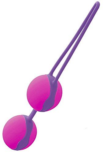 LIEBE Pleasure Toys Duo Love Balls Vaginalkugeln Liebeskugeln für Frauen - Sex und Beckenbodentraining, Länge: 10 cm, Ø 4 cm - Pink/Violett