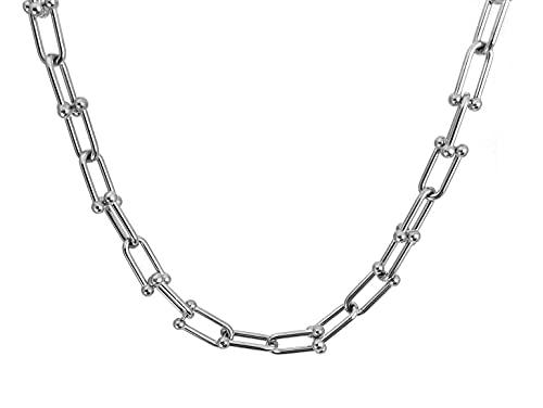 Ohana - Collar de mujer de acero inoxidable con cadena, Cubic Zirconia,