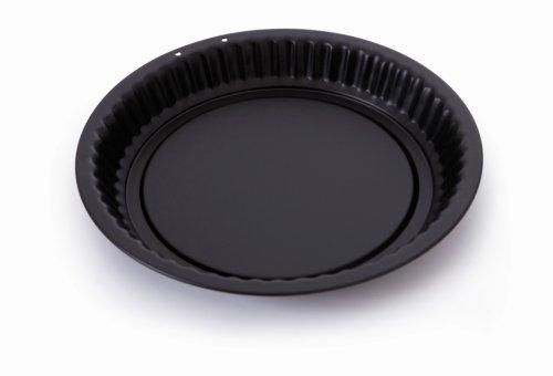 Mauviel 710730 Moule à tarte, Tôle d'acier, Noir, 30 cm