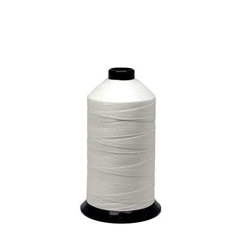 EZ-Xtend #138 Bonded Polyester Thread 100% American Made for Outdoor and Marine Fabric Sewing Applications, Awnings, Tarps, Canvas. for Heavy Duty and Industrial Sewing Machines (White, 8 oz)