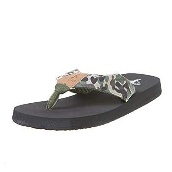 Corkys Women s Trail Flip-Flop Sandals  7 Camo