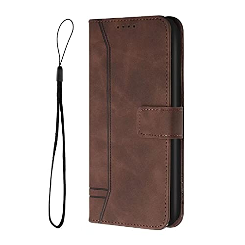 Handyhülle Kompatibel Mit Motorola Edge 20 Hülle, für Motorola Edge 20 Hülle, Lederhülle Book Schutzhülle, Kartenfach Holster Magnetverschluss,Tasche Flipcase Brieftasche Etui Schwarz