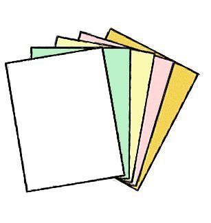 "100 Sets of 5 Part NCR® Letter Size - 8-1/2"" x 11"", Carbonless Paper 01938, 500 Sheets, STRAIGHT Collated by NCR?- Appleton Paper"