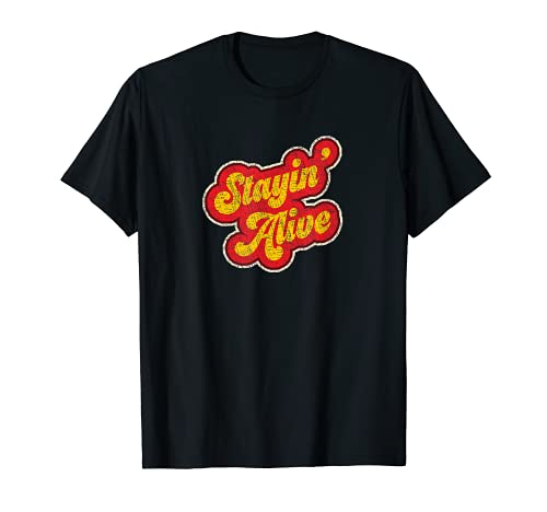 'Stayin' Alive' Vintage 1970s classic Distressed T-Shirt