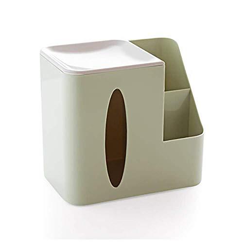 COLiJOL Soporte de Papel Caja de Pañuelos Caja de Cubierta de Pañuelos Organizador de Servilletas de Papel con Bandeja para Joyería Y Maquillaje