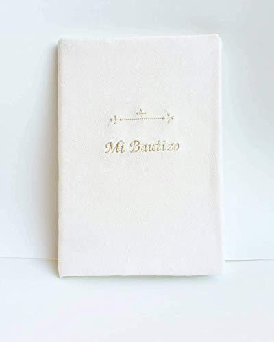Libro de firmas para bautizo bordado