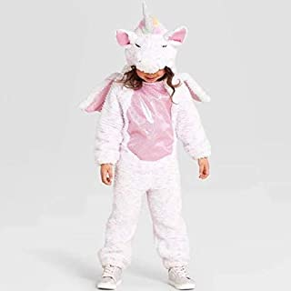 Toddler Pink Halloween Costume Plush Unicorn Jumpsuit Size 4-5T