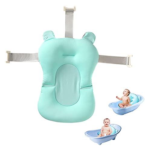 Liamostee - Bañera para bebés y niños pequeños, cojín hinchable antideslizante, suave asiento flotante