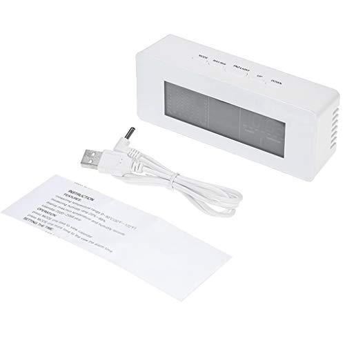 Qinghengyong Digital LCD Wetterstation Hygrometer 0 ~ Alarm Snooze 50 Uhr Kalender Alarm Snooze-Funktion