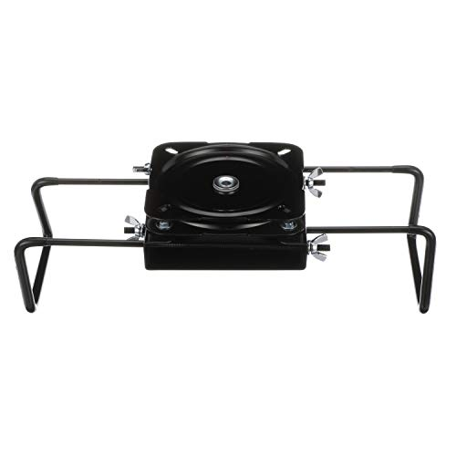 Attwood 15700-3 Seat Mount, Clamp-On With Swivel, Adjusts from 7 ½ inches to 18 inches, Black, Powder-Coated Aluminum