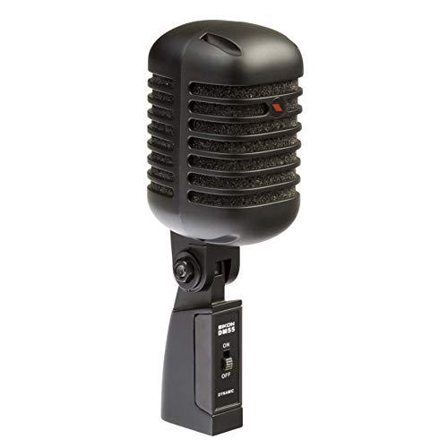 Proel EIKON DM55V2BK – Micrófono dinámico cardioide profesional vintage de metal, edición negra satinada.