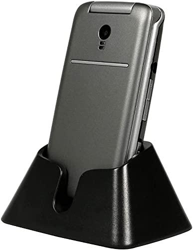 3G Teléfono Móvil para Personas Mayores Teclas Grandes para Mayores con MMS, SOS Botón, Cámara, 2,4 Pulgadas, con una Base de Carga, Fácil de Usar para Ancianos