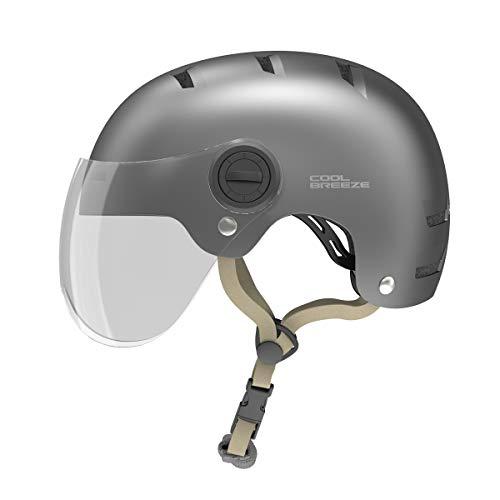 HIMO Skate-Helm, Fahrradhelm für Erwachsene, Verstellbarer Skateboard, Scooter Cycling Helmet Sports Safety Helmets with HD Lenses M/L- K1M, Dunkelgrau