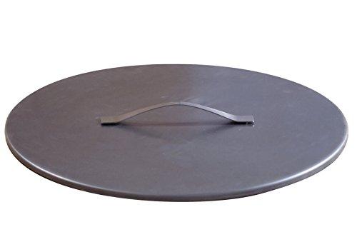 SvenskaV Deckel aus Rohstahl rostend Feuerschalen in Größe XXL (63 cm)