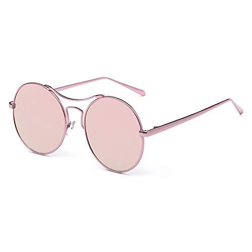 YIERJIU Gafas de Sol Gafas de Sol Redondas para Mujer Gafas de Sol con Espejo Reflectante Retro Gafas Vintage para Hombre promoción Venta,Rosa