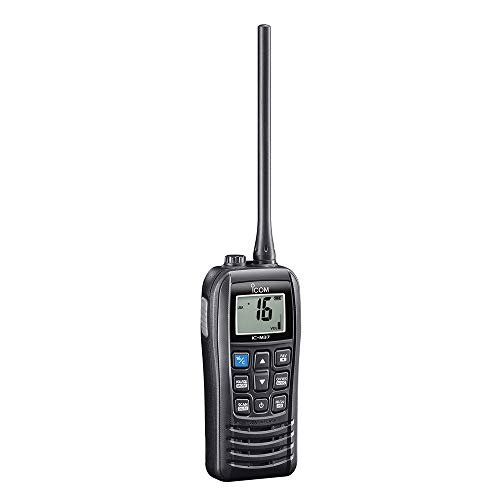 Icom VHF Radio Handheld Floating 6W, Black, Small