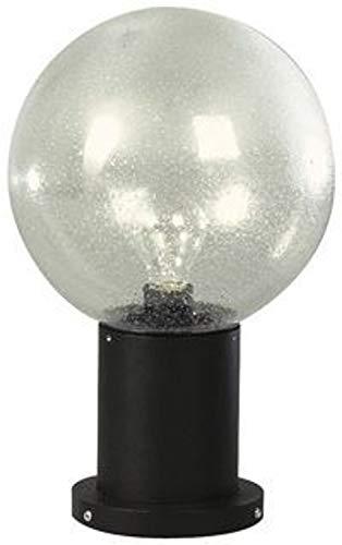 Albert 660503 Sockelleuchte, Aluminium, E27, 38 cm, schwarz