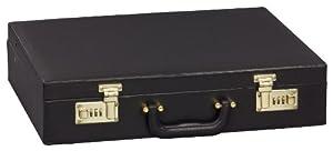 GRÄWE Aktenkoffer Attachekoffer Besteckkoffer Koffer (leer), schwarz, mit Zahlenschloss