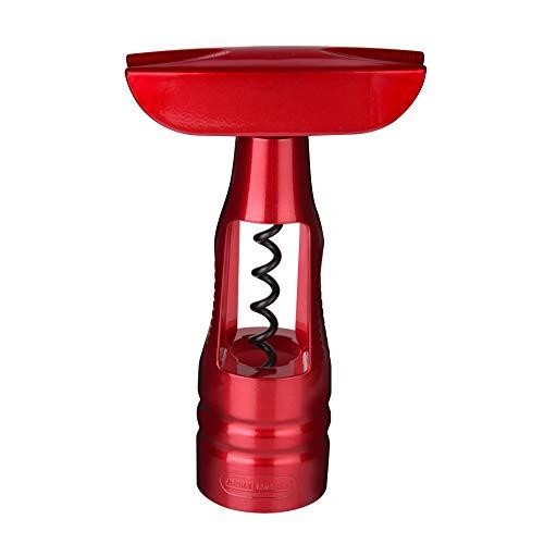 Fackelmann - Cavatappi, 15 cm, zincato, Rosso cupo