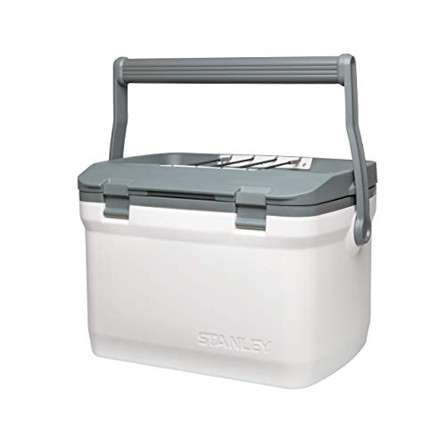 Stanley Adventure Outdoor Cooler 6,6 Liter / 7QT Polar White – Camping Kühlbox - Doppelwandige Schaumisolierung - BPA-frei -Deckel fungiert auch als Sitz - Robuste Kühlbox ohne Strom - Auslaufsicher