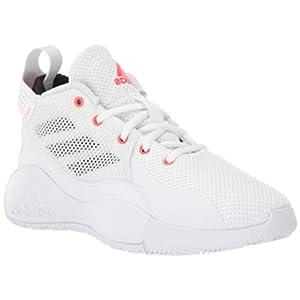 adidas D Rose 773 Basketball Shoe, White/Solar Red/Black, 7 US Unisex Big Kid