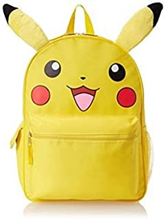 5714b5642269 Pokemon Pikachu 3D Backpack Book Bag with Plush Ears - 16 Inches