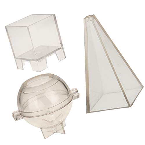IPOTCH Pirámide Esfera Cuadrado Vidrio para Hacer Velas de Flores Secas - Molde Conveniente Usado
