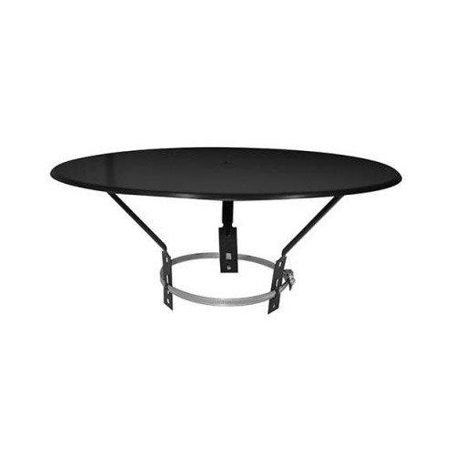 ISOTIP-JONCOUX 037105 Chapeau Plat, Noir, Diamètre 125 à 200 mm