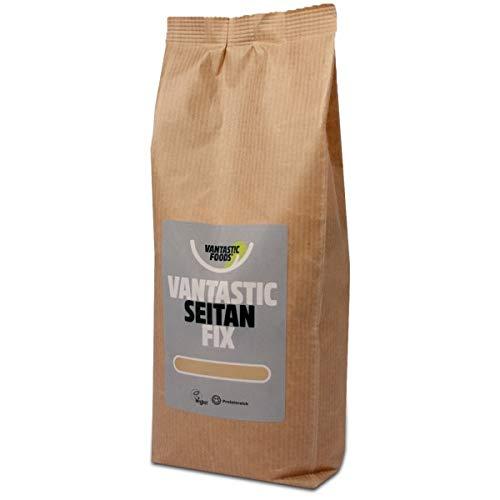 Vantastic Foods Seitan Fix 750g | Seitan Basis Pulver | Seitanfix Weizengluten | Fleischersatz | Fleischalternative | Großgebinde Sparpack