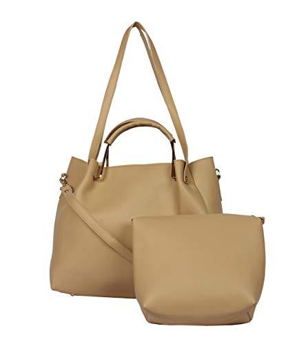 Don Cavalli Women's PU Leather Handbag (Cream)