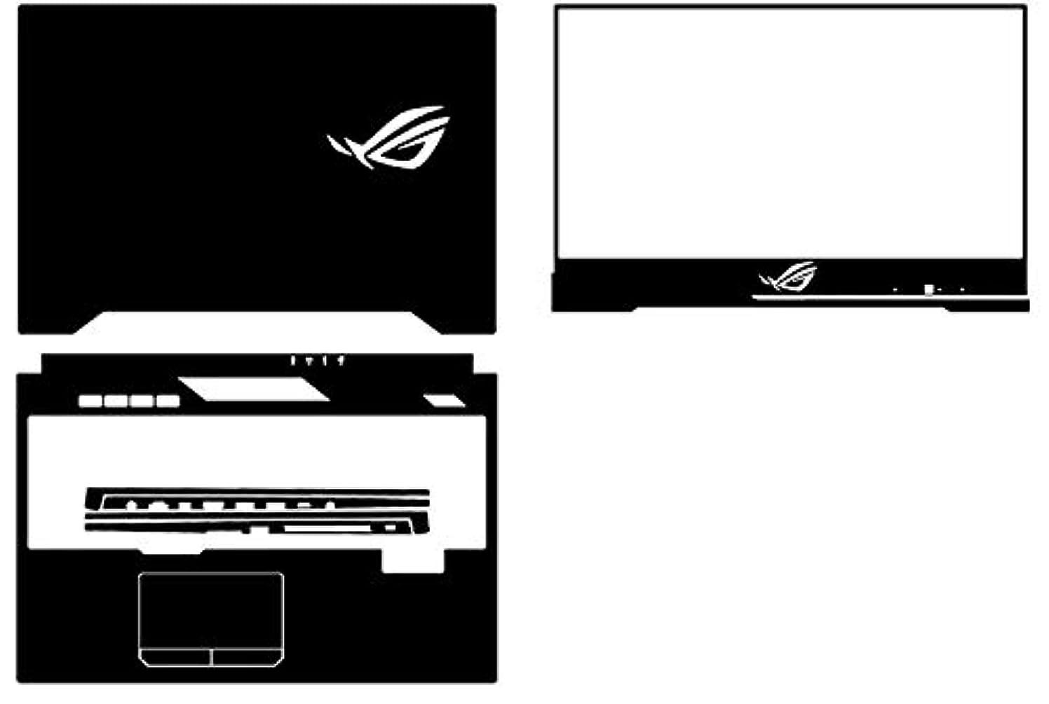 Special Laptop Black carbon fiber Vinyl Skin Stickers Cover for Asus ROG Strix Hero II GL504GV GL504GW GL504 GL504GM GL504GS 15.6