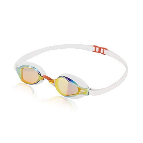 Speedo Unisex-Adult Swim Goggles Speed Socket 2.0, Dragonfire Orange/Blue Flame