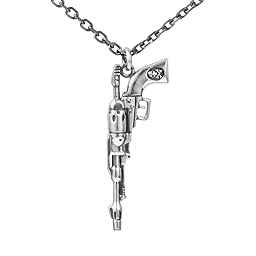 [ユートレジャー] U-TREASURE 銀河鉄道999 グッズ ネックレス 戦士の銃 ネックレス シルバー ユニセックス 男女兼用 レディース メンズ 女性 男性 アクセサリー ジュエリー プレゼント NGT-202-SV
